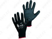 BRITA BLACK pracovn� rukavice m��en� v PU