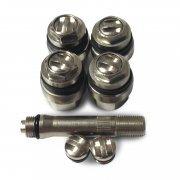 V007-ČERNÝ sada 4ks bezdušových ventilu pro ALU disk (skrytých) pr.11,5mm