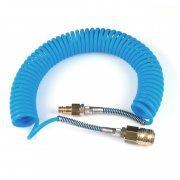 10tt06 vzduchová spirálová hadice 6,5m s rychlospojkou pr.6mm