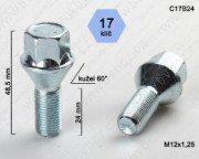 Šroub M12x1,25L25mm kužel