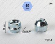 Kolová matice M12x1,5 kužel otevřená/19klíč