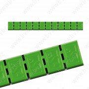 380H-BOX6ks- ZELENÁ 60gZn(12x5g) samolepící závaží