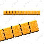 380H-BOX6ks- ŽLUTÁ 60g Zn(12x5g) samolepící závaží