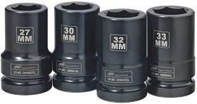 """IR SK8M4L 1"""" sada 4 dlouhých rázových hlavic  27,30,32,33mm INGERSOLL RAND"""