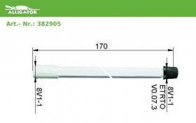 38.2905 plastové ventilové prodloužení 170mm ALLIGATOR