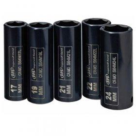 """IR SK4M5L 1/2""""sada 5 dlouhých rázových hlavic 17,19,21,22,24mm INGERSOLL RAND"""