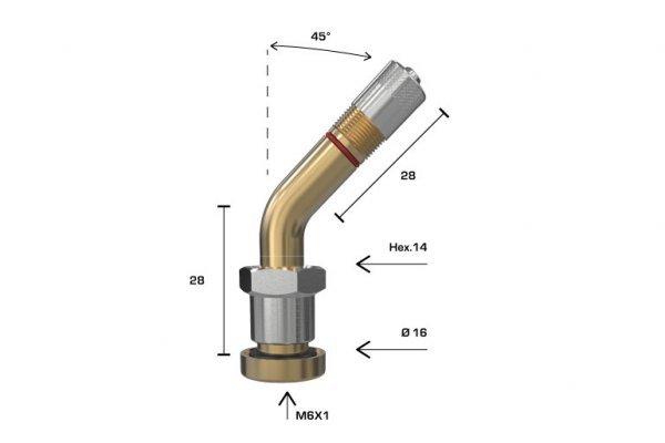 1392 ventil bezdušový pro nákladní senzor úhle 45st. Wonder