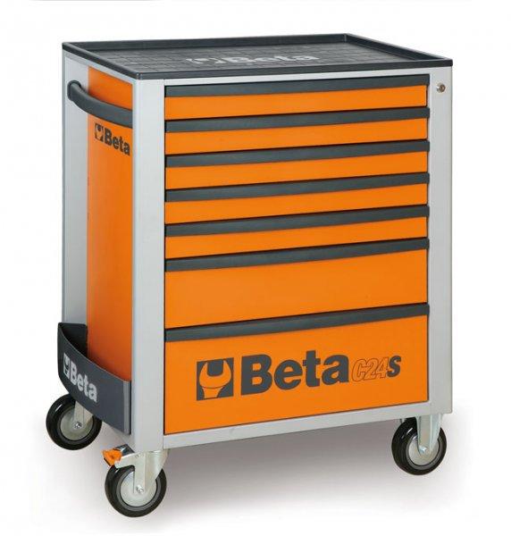 2400/C24S7 Pojízdný vozík na nářadí se 7 zásuvkami BETA