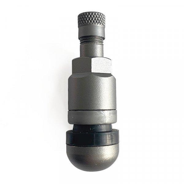 523MSA-Titan-šedý Alu-elox ventil bezdušový pro osobní ALU/ocel disk pr.11,5mm