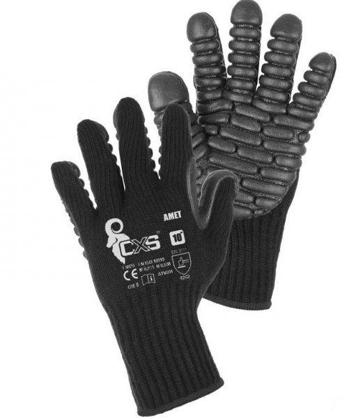 AMET pracovní rukavice pletené s antivibračními polštářky