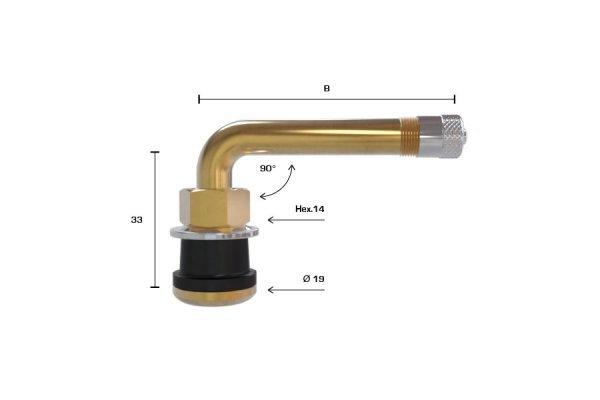 TR570C ventil bezdušový pro nákladní,stavební disk pr.16mm