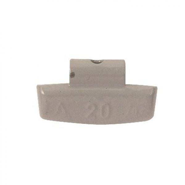 63-Šedá 20g Zn vyvažovací závaží osobní ALU disk-lakované PERFECT
