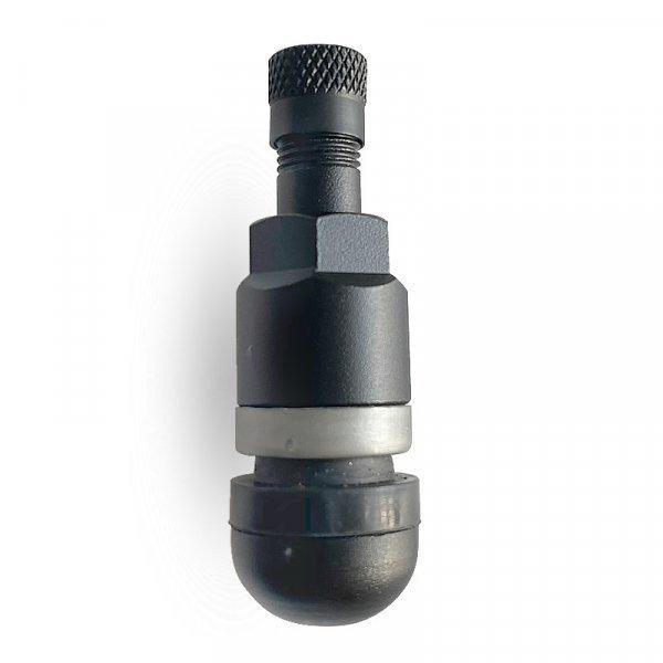 523MSA-Černý Alu-elox ventil bezdušový pro osobní ALU/ocel disk pr.11,5mm