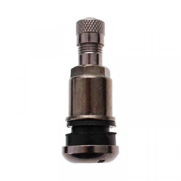 525MSD-Nikl-černý ventil bezdušový pro osobní,VAN/ALU/ocel disk pr.11,5mm