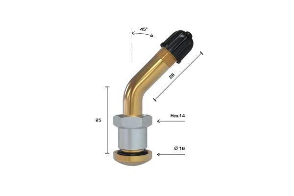 V3.22.1 (58MS) ventil bezdušový pro nákladní disk pr.9,7mm