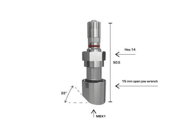 1394 ventil bezdušový pro nákladní senzor úhel 0st  Wonder
